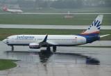 Sun Express B-737-800 arriving DUS from Turkey