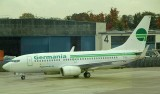 Germania B-737-700 approaching its gate at DUS