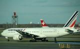 Air France B-777-200 waiting in the take off queueat JFK