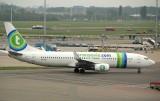 Transavia B-737-800 approaching its gate