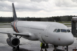 Titan Airways A-A320 G-POWM at HEL on a flight for Norwegian
