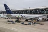 Garuda 777-300ER with Sky Team Livery at PVG