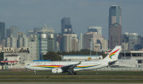 Tibet Airlines A-330 landing at SHA