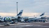 Finnair Airbus tails at HEL