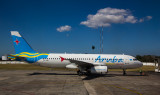 Aruba Airlines A-320 just arrived at Havana