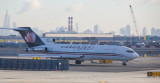 Cargo Jet B-727 taxi for take off at EWR, Jan. 2017