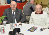 Dad (Vernon Hoying) and his brother Herb at the WWII Veterans banquet