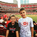 Mason and Camden at the Reds Game