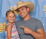 Dustin Lynch and a young fan