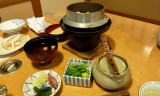 Rice pot with snow crab