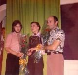 Sue Egan with husband Keith. and Joshua Galvin.
