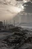 Praia de Paredes de Vitória em 3 de março de 2014
