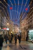 A Rua Almirante Cândido dos Reis no Natal