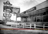 Early 1960's - the Golden Steer Steakhouse with Goldie Star of TV out front