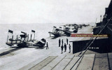 Late 1910's - U. S. Navy Curtiss AB-3 flying boats at an unknown Naval Air Station