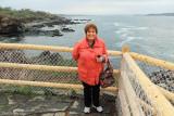 May 2013 - Karen at Portland Head Light, Maine