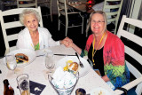 May 2013 - Karen's mom Esther M. Criswell and sister Wendy Criswell at dinner with Don during a PEO convention