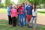 April 2013 - Karen, Esther, Wendy, baby Alana, Kathy, Jim, David and Katie Criswell