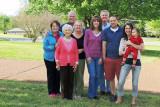 April 2013 - Karen, Esther, Don, Wendy, baby Alana, Kathy, Jim, David and Katie Criswell