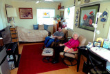 March 2013 - Jon with Grandma in her apartment at Wendy and Jim's in St. Petersburg