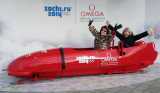 February 2014 - Linda and Brenda horsing around at the site of the 2014 Winter Olympics in Sochi, Russia