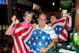 February 2014 - Brenda, Don and Linda at Bryson's Irish Pub after they returned to the USA