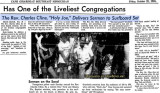 1965 - article about Reverend Charles Cline, affectionately known as Holy Joe, on the real South Beach