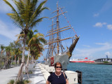 June 2014 - Karen in front of the USCGC EAGLE (WIX-327) at the historic FEC Deepwater Slip at Museum Park in downtown Miami