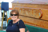 June 2014 - Karen onboard the USCGC EAGLE (WIX-327) at the historic FEC Deepwater Slip at Museum Park in downtown Miami