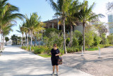 June 2014 - Karen in front of the bay side of the Perez Art Museum in the new Museum Park
