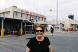 June 2014 - Karen after arrival on a Southwest Airlines B737-700 at Key West International Airport