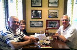 May 2014 - Don, Karen and Jim Criswell at the Franklin Chop House in Franklin, Tennessee