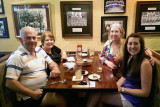 May 2014 - Don, Karen, Lisa Marie Criswell and Katie Beth Criswell at the Franklin Chop House restaurant in Franklin, Tennessee