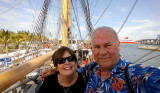 June 2014 - Karen and Don onboard the USCGC EAGLE (WIX-327) at the brand new Museum Park in downtown Miami