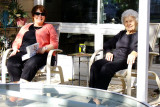 February 2015 - Karen and Esther on the back patio area of Wendy and Jim's in St. Petersburg