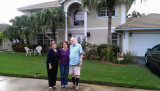 December 2014 - Karen with Lynda and Ray Kyse at their home in Davie
