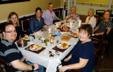 March 2015 - Jon, Donna, Carol & Ed Page, Thelma Blasko, Esther Criswell, Wendy, and Karen celebrating Esther's 94th birthday