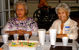 March 2015 - Aunt Thelma and Esther at her 94th birthday luncheon in St. Petersburg