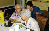 March 2015 - Aunt Thelma, her daughter Carol and Esther blowing out her 94th birthday candles