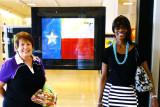 June 2015 - Karen with Diane Dean-Cox at the Northstar Mall in San Antonio, Texas