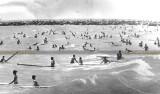 1966 - surfers at the original South Beach on Miami Beach