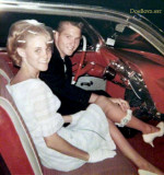 1966 - Janet Andrews Moye and Kenny Moye departing on their honeymoon