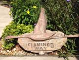 2015 - old Flamingo Way road sign
