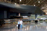 June 2011 - Karen with her mom Esther with the Rockwell B-1A Lancer bomber at the former Lowry Air Force Base