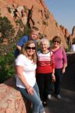 June 2011 - Karen, Kyler, Esther Criswell and Karen at Garden of the Gods in Colorado Springs
