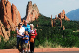 June 2011 - Karen, Don, Kyler and Esther Criswell at Garden of the Gods in Colorado Springs
