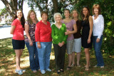 March 2011 - Katie Beth, Donna, Karen, Esther, Lisa Marie, Wendy, Katie and Kathy in Wendy and Jim's backyard
