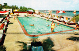 1965 - the saltwater pool at the Atlantique Resort Motel just south of the Newport Pier on Sunny Isles