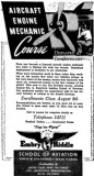 1943 - wartime Embry-Riddle School of Aviation advertisement in the Miami Daily News