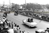 1948-49 - President Harry S Truman in motorcade in front of Miami High School